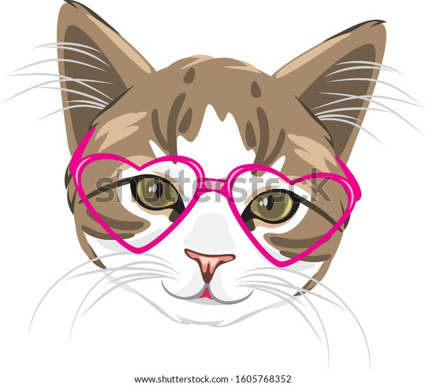 cute-kitten-pink-glasses-vector-600w-160