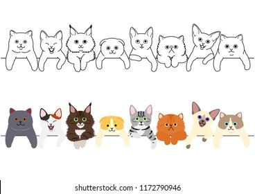 cute kitties border set