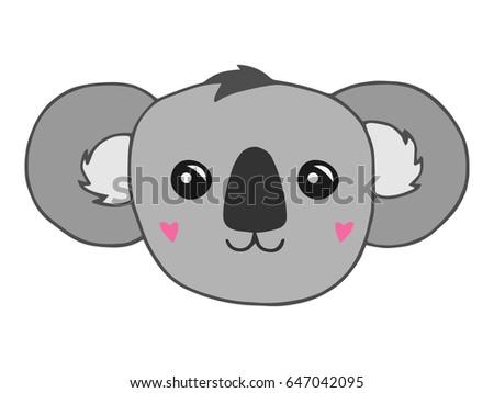 Cute Koala Bear Vector Illustration Drawing Stock Vector Royalty
