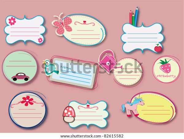 school book labels images