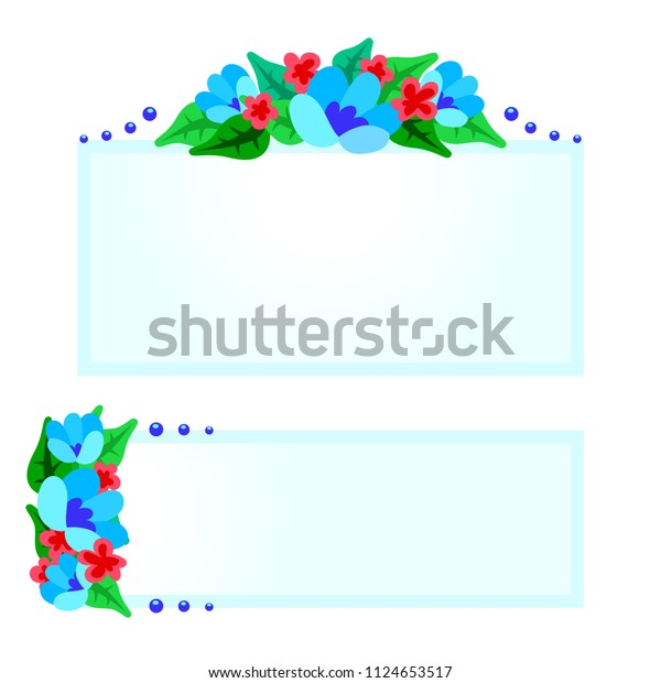Cute Lable Sticker Tally Docker Flowers Stock Vector (Royalty Free