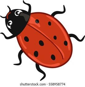 Delightful Cute Ladybug Cartoon
