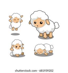 cute lamb cartoon mascot