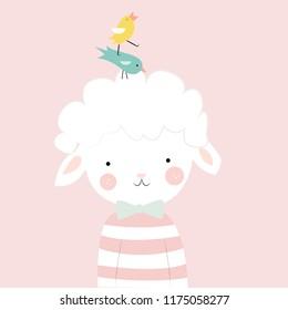 Cute lamb for children