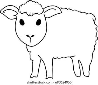 Cute lamb – lineart