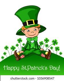 Cute leprechaun St.Patrick's Day