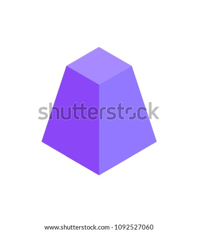 cute lilac pyramid template colorful illustration stock vector