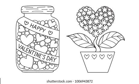 Heart Coloring Pages Images, Stock Photos & Vectors ...