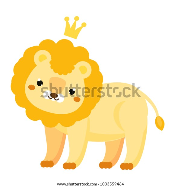 Cute Lion Cartoon Lion Crown Kawaii Stock Vector Royalty Free 1033559464 Free cartoon lion vector download in ai, svg, eps and cdr. shutterstock