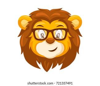 Cute Lion Face Emoticon Emoji Expression Illustration - Geek