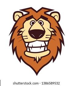 Cute lion head mascot for sport or zoo/animal hospital mascot - vector