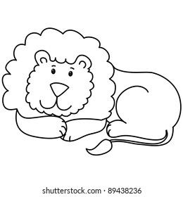 Lion Lying Down Stock Illustrations Images Vectors Shutterstock The beast lion lay, lion clipart, lying down, the beast png image. https www shutterstock com image vector cute lion lie down cartoon line 89438236