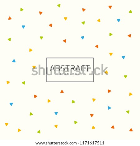 Cute Little Abstract Cool Colors Shapes Stock Image