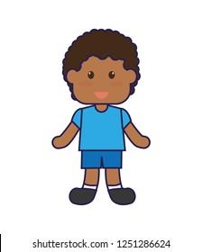 cute little african boy character