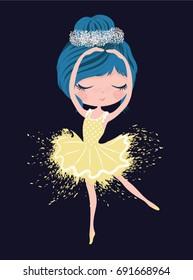 Cute little ballerina dancing.