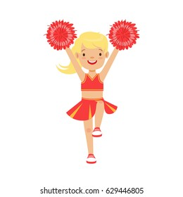 blonde cheerleader Cartoon