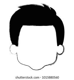 cute and little boy head vector illustration design
