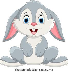 Cute little bunny cartoon