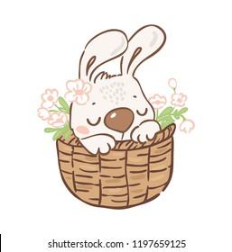 Cute little bunny/easter card