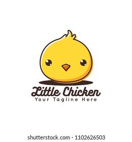 Cute Little Chicken Logo Vector