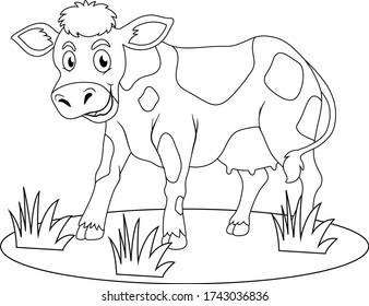 Cow Coloring Page High Res Stock Images Shutterstock