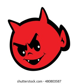 Cute little devil vector eps illustration