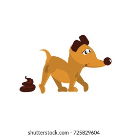Cute little dog. Collection isolated of  funny puppys in cartoon style. Vector illustration eps 10