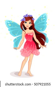 Cute little fairy vector fantasy illustration