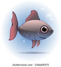 Cute little fish. Vector illustration