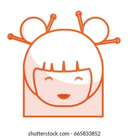 cute Little japanese doll head