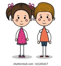 cute little kids drawing