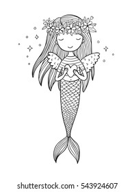 how to draw a cute mermaid