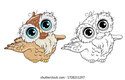Cute little owl vector illustration
