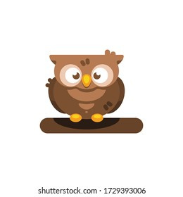 Cute Little Owl vector illustration, isolated on white background