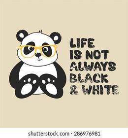 cute little panda  vector illustration