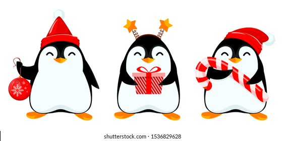 Christmas Penguin Images Stock Photos Vectors Shutterstock