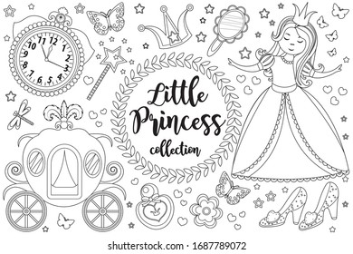 Coloring Pages Princess Images Stock Photos Vectors Shutterstock