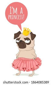 Cartoon Dog Crown Images Stock Photos Vectors Shutterstock Ships from and sold by rockler woodworking and hardware. https www shutterstock com image vector cute little pug dog pink skirt 1864085389