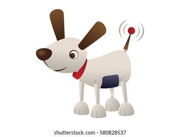 cute little robot dog