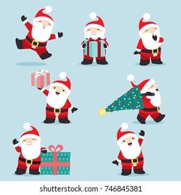 Cute little Santa Claus posing set 3