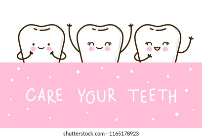 Cute little teeth for Your design - Shutterstock ID 1165178923