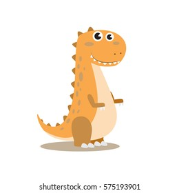 cute little tyranosaurus rex vector cartoon illustration