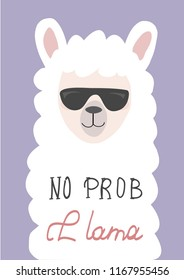 cute llama hand drawn vector illustration for cards,t-shirts,fabric.