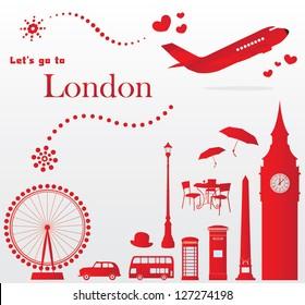 cute London travel set