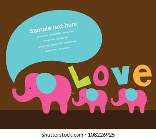 cute love card. vector illustration