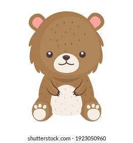 cute lovely , bear animal character vector illustration design