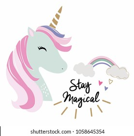 cute lovely unicorn vector for kids t shirt lovely unicorn illustration graphic vector. watercolor illustration young and happy, t-shirt graphics, posters, party concept, textile graphic,