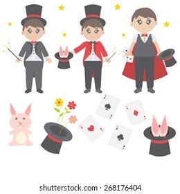 Cute magician vector
