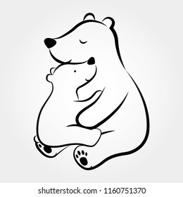 Mama Bear And Baby Bear Images Stock Photos Vectors