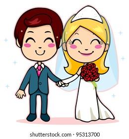 Bride Couple Muslim Muslimah Islam People Stock Vector Royalty Free